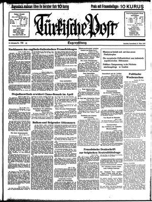 Türkische Post vom 27.03.1937