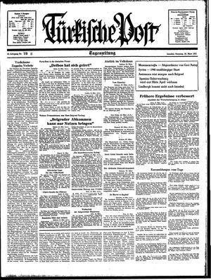 Türkische Post vom 30.03.1937