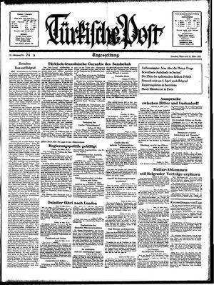 Türkische Post vom 31.03.1937