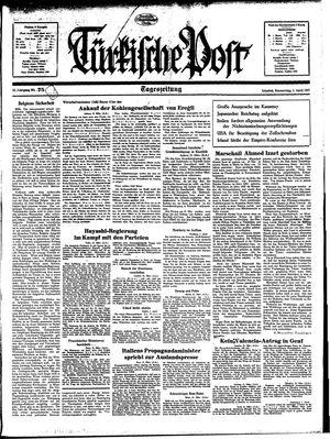 Türkische Post vom 01.04.1937
