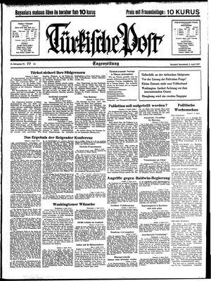 Türkische Post vom 03.04.1937