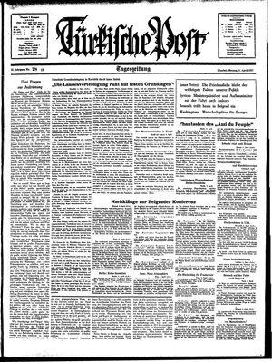 Türkische Post vom 05.04.1937