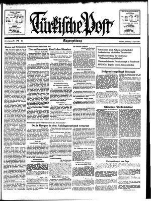 Türkische Post vom 06.04.1937