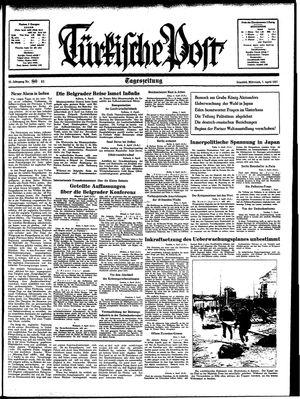 Türkische Post vom 07.04.1937