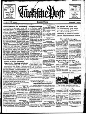 Türkische Post vom 12.04.1937