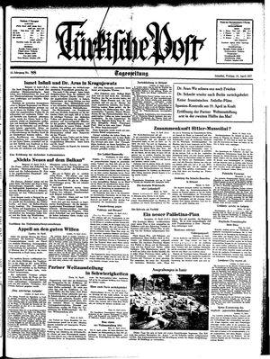 Türkische Post vom 16.04.1937