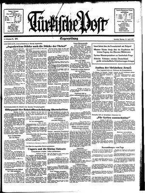 Türkische Post vom 19.04.1937