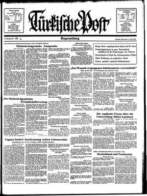 Türkische Post vom 21.04.1937