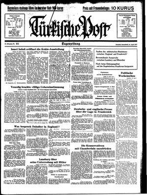 Türkische Post vom 24.04.1937