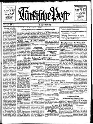 Türkische Post vom 29.04.1937