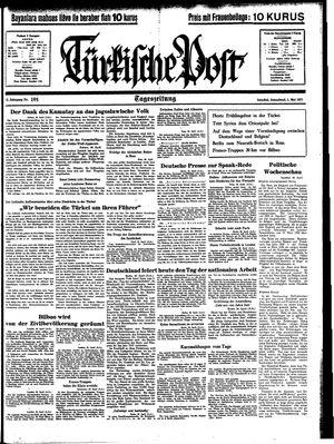 Türkische Post vom 01.05.1937
