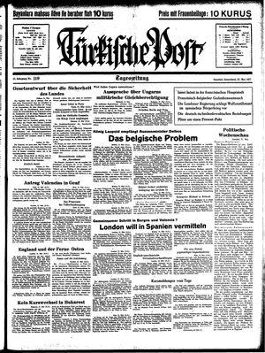 Türkische Post vom 22.05.1937