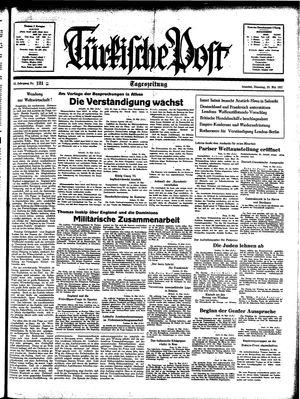 Türkische Post vom 25.05.1937