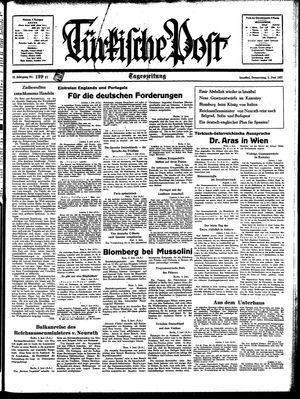 Türkische Post vom 03.06.1937