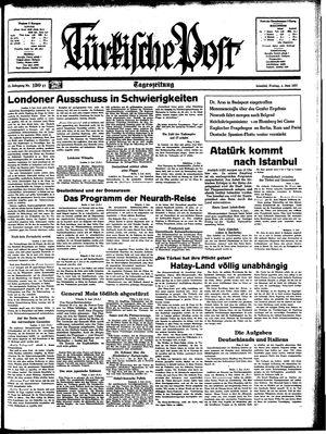 Türkische Post vom 04.06.1937