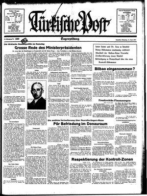 Türkische Post vom 15.06.1937