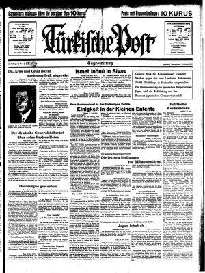 Türkische Post vom 19.06.1937
