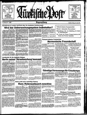 Türkische Post vom 25.06.1937