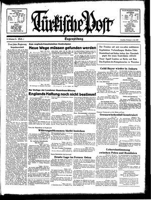 Türkische Post vom 02.07.1937