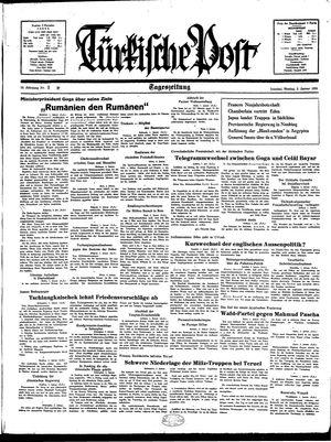 Türkische Post vom 03.01.1938