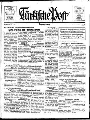 Türkische Post vom 06.01.1938