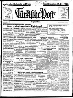Türkische Post vom 08.01.1938