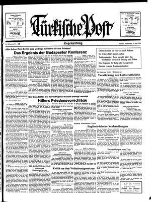 Türkische Post vom 13.01.1938