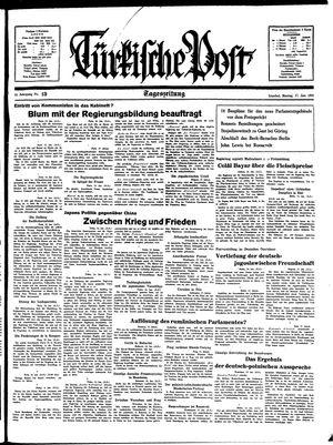 Türkische Post vom 17.01.1938