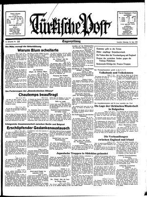 Türkische Post vom 18.01.1938