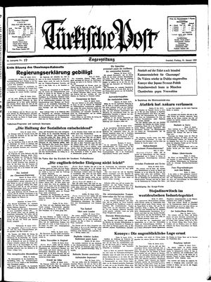 Türkische Post vom 21.01.1938