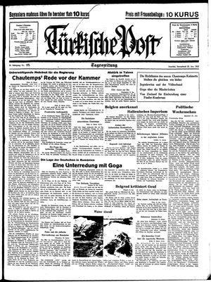 Türkische Post vom 22.01.1938