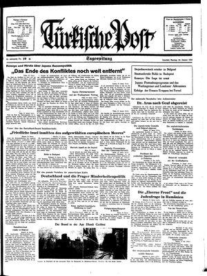 Türkische Post vom 24.01.1938