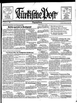 Türkische Post vom 25.01.1938
