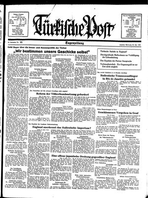 Türkische Post vom 26.01.1938