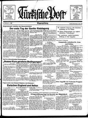 Türkische Post vom 27.01.1938