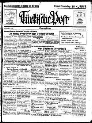 Türkische Post vom 29.01.1938
