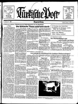 Türkische Post vom 01.02.1938