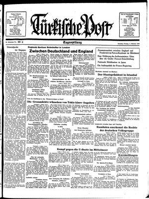 Türkische Post vom 04.02.1938