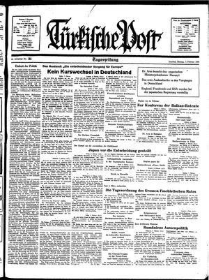 Türkische Post vom 07.02.1938