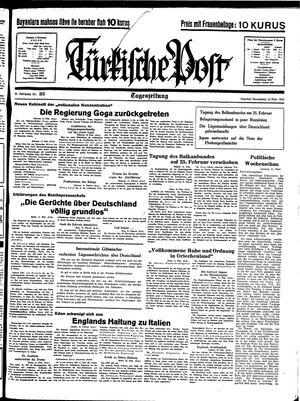 Türkische Post vom 12.02.1938