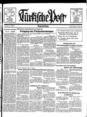 Türkische Post vom 15.02.1938
