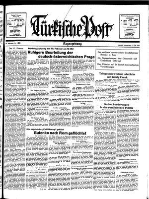 Türkische Post vom 17.02.1938