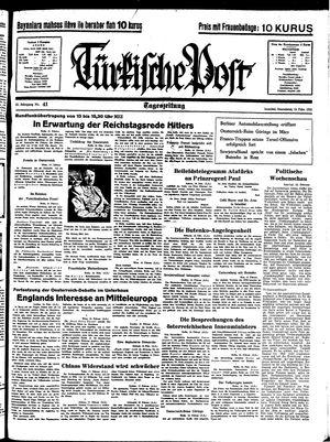 Türkische Post vom 19.02.1938