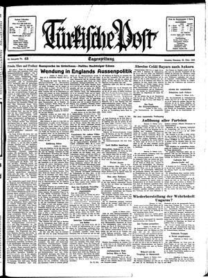 Türkische Post vom 22.02.1938