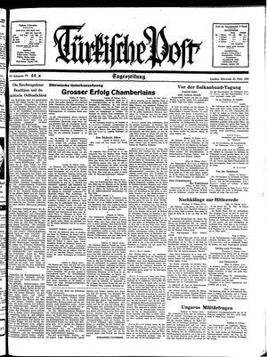 Türkische Post vom 23.02.1938