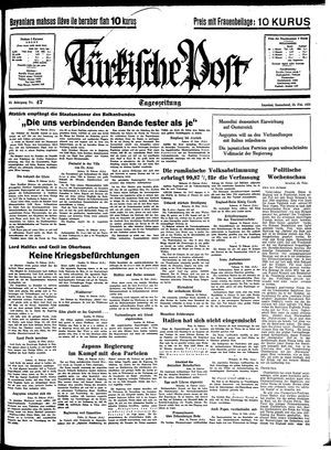 Türkische Post vom 26.02.1938