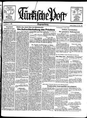 Türkische Post vom 28.02.1938