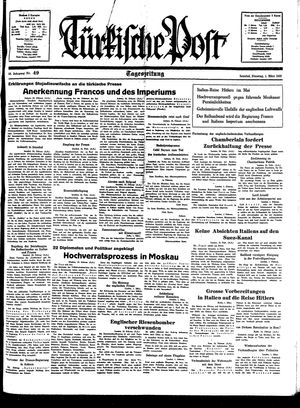 Türkische Post vom 01.03.1938