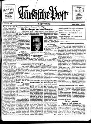 Türkische Post vom 07.03.1938