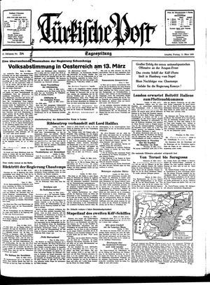 Türkische Post vom 11.03.1938